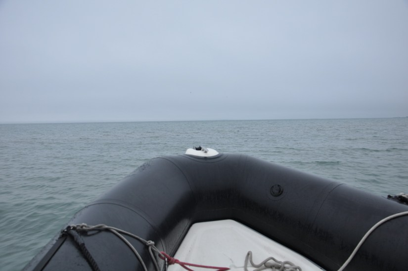 a zodiak on lake erie, ontario