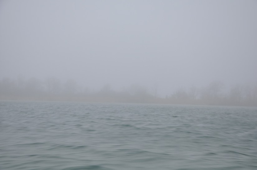 foggy tip of long point, lake erie, ontario