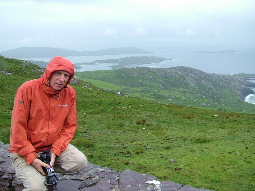 bob overlooking ballinskellig's bay, ring of kerry, ireland