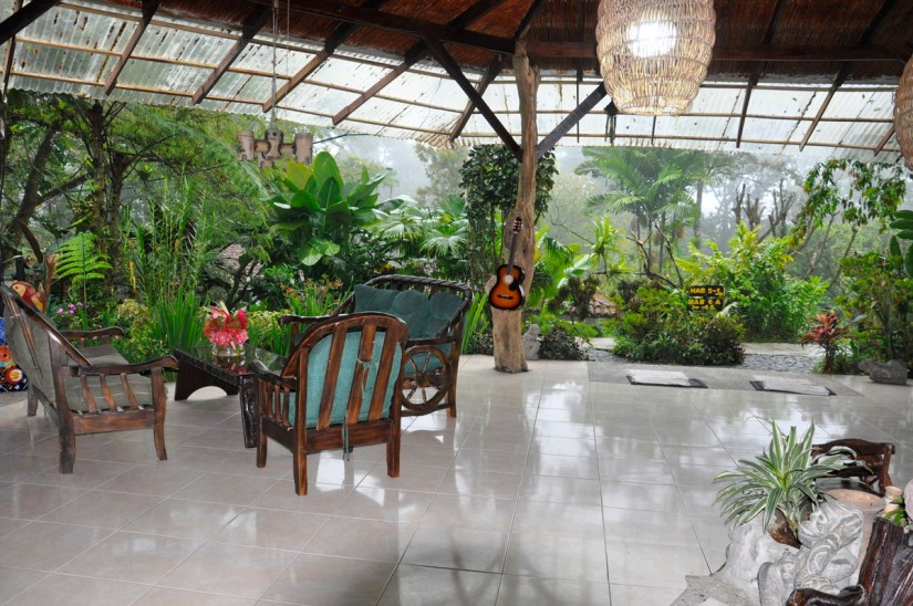 the reception lobby, kokoro lodge, la fortuna, costa rica