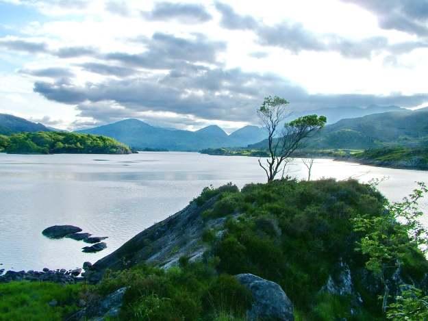 dusk upper lake, killarney national park, ireland