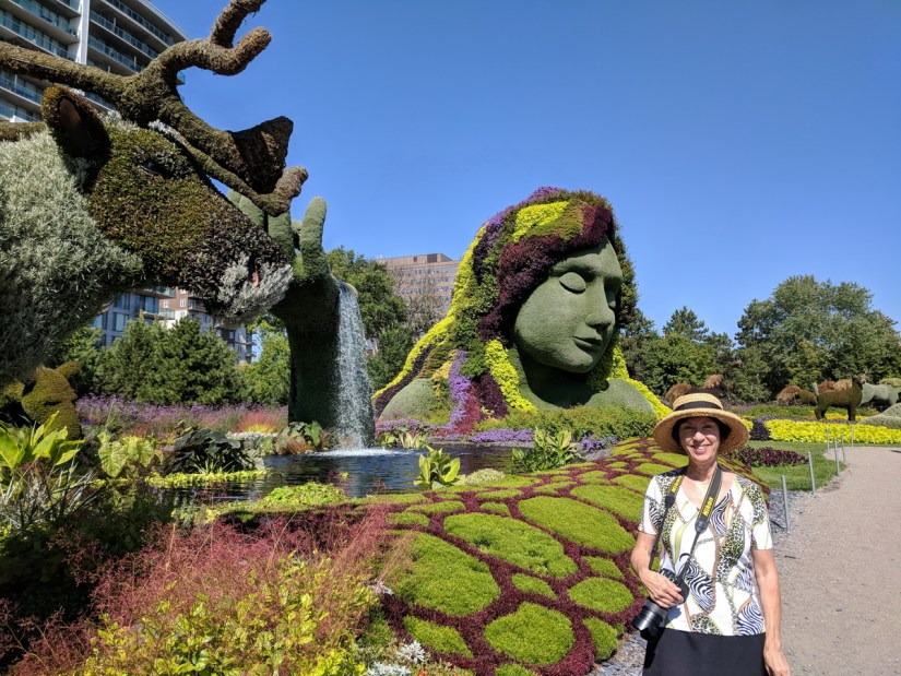 jean in front of mother earth, mosaiculture 2018, gatineau, quebec, canada