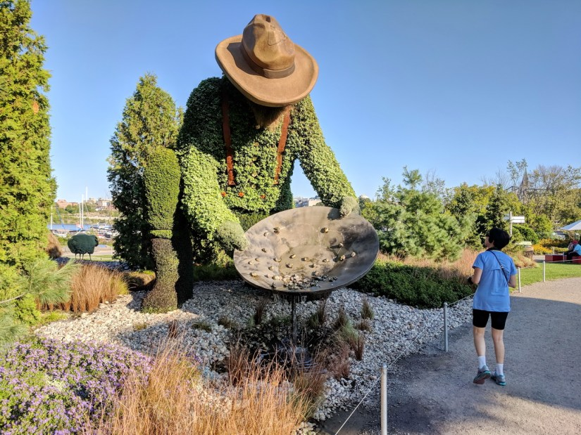 the prospector, mosaiculture 2018, gatineau, quebec, canada