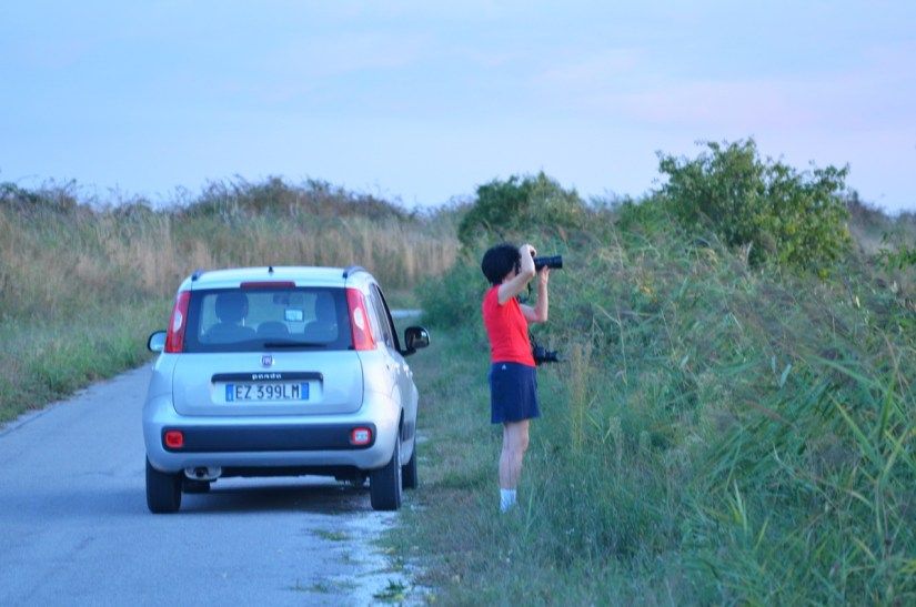 jean taking a photo, po river delta, italy