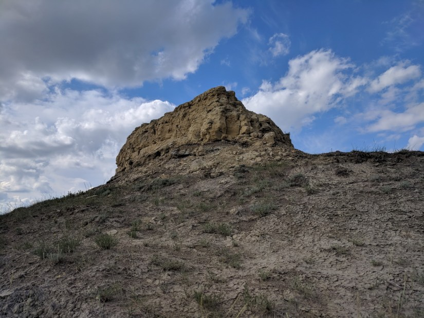 a butte, valley of 1000 devils route, grasslands national park east block, saskatchewan