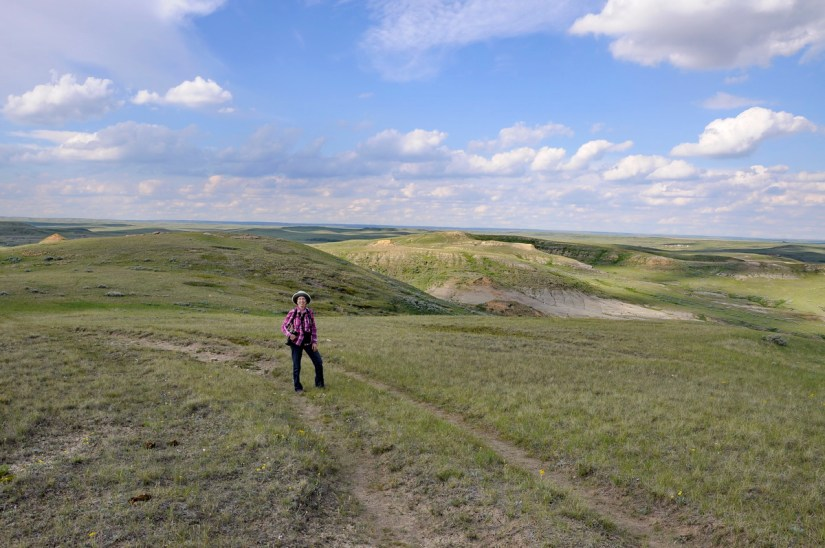 jean, valley of 1000 devils route, grasslands national park east block, saskatchewan