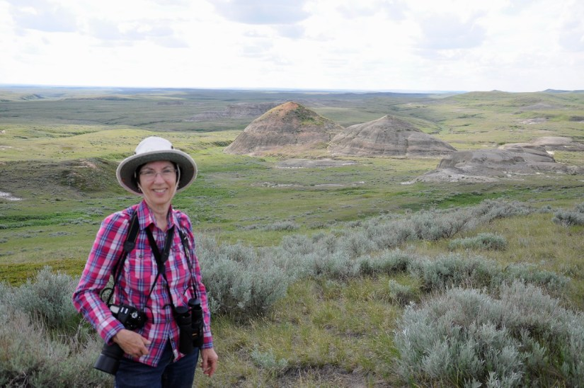 jean in the badlands, grasslands national park east block, saskatchewan