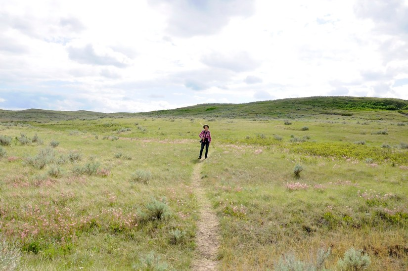 jean on the valley of 1000 devils route, grasslands national park east block, saskatchewan