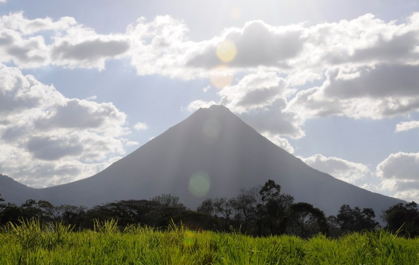 arenal volcano, seen from ecocentro danaus, la fortuna, costa rica