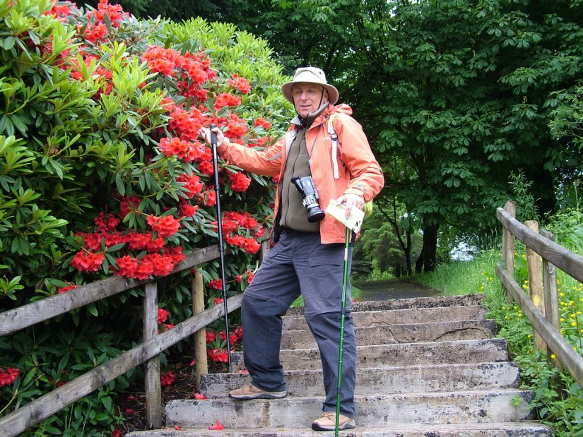 bob in the ornamental gardens, glenariff forest park, northern ireland
