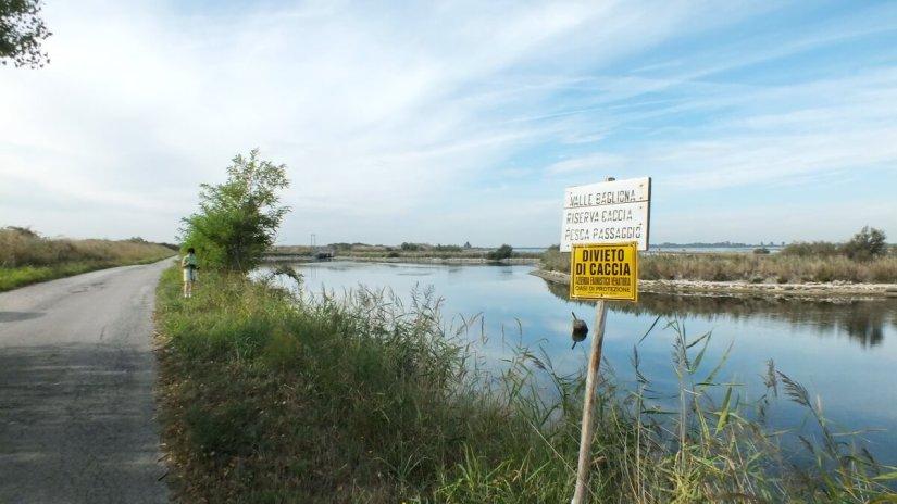 parco regionale veneto del delta del po, po river delta, italy