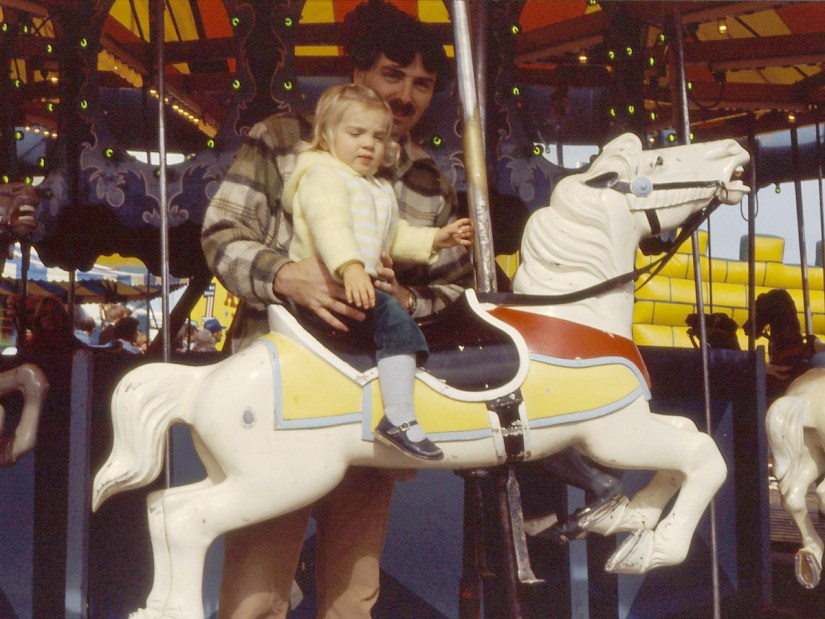 bob and daughter at markham fair, 1982