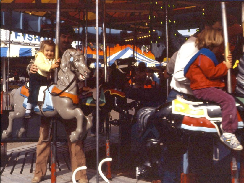 the merry-go-round, markham fair, 1982
