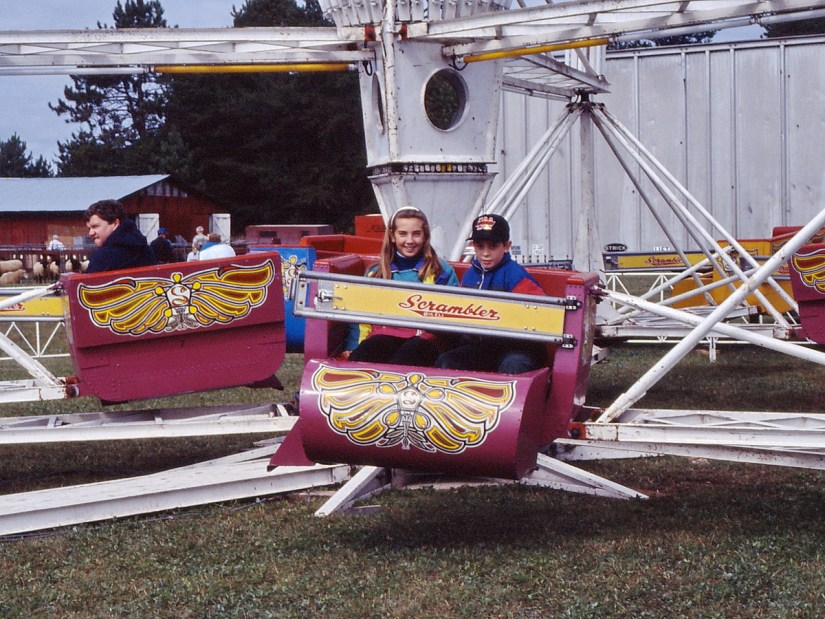 children on the Scrambler, markham fair, 1991