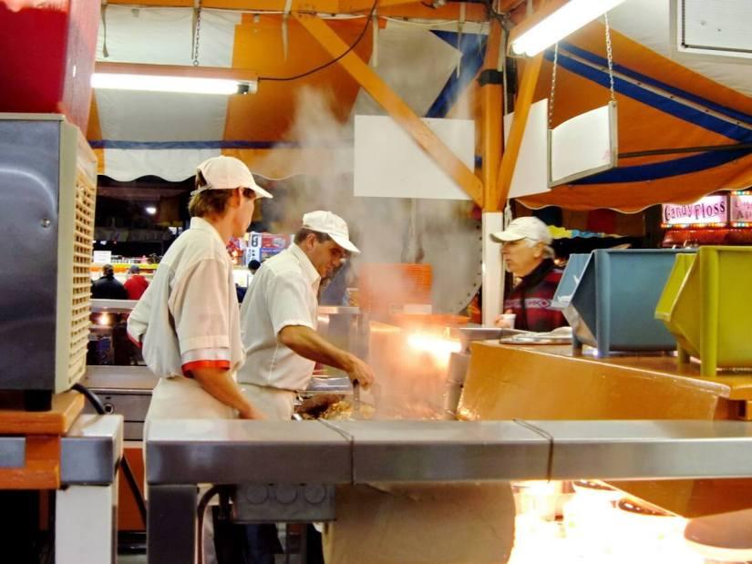 food vendor, markham fair, markham, ontario, 2005