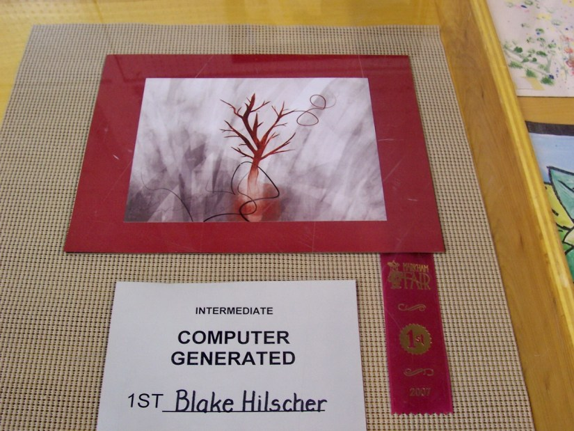 entry into art competition, markham fair, markham, ontario, 2007