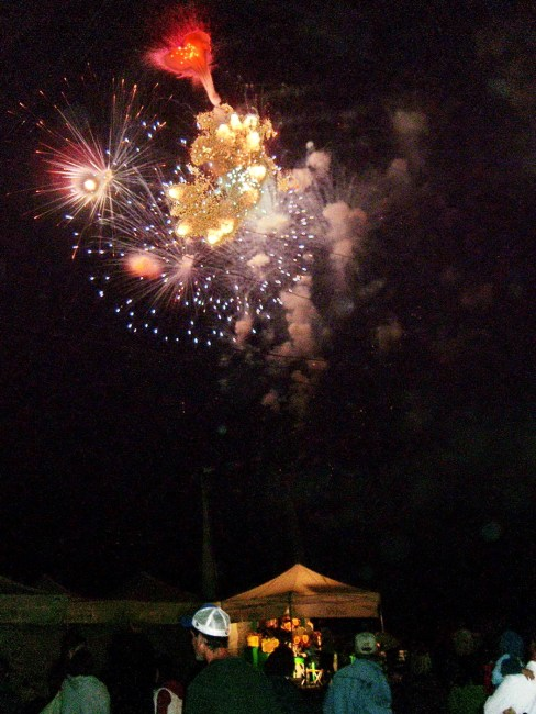 fireworks at markham fair, markham, ontario, 2007