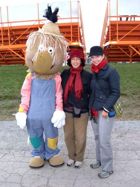 markham fair mascot faircrow, markham fair, markham, ontario, 2008