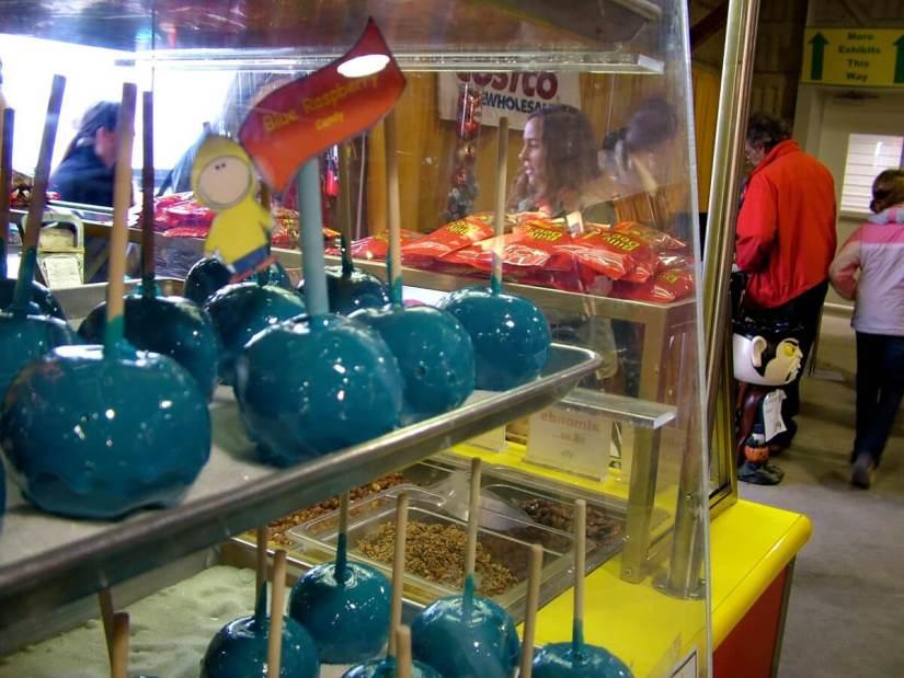candy apples for sale, markham fair, markham, ontario, 2009