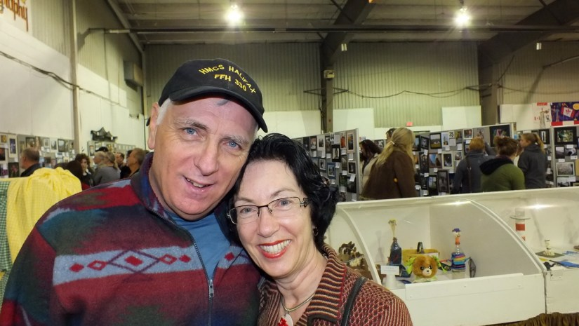 bob and jean in the homecraft building, markham fair, markham, ontario, 2012