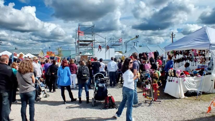 crowds at markham fair, markham, ontario, 2012