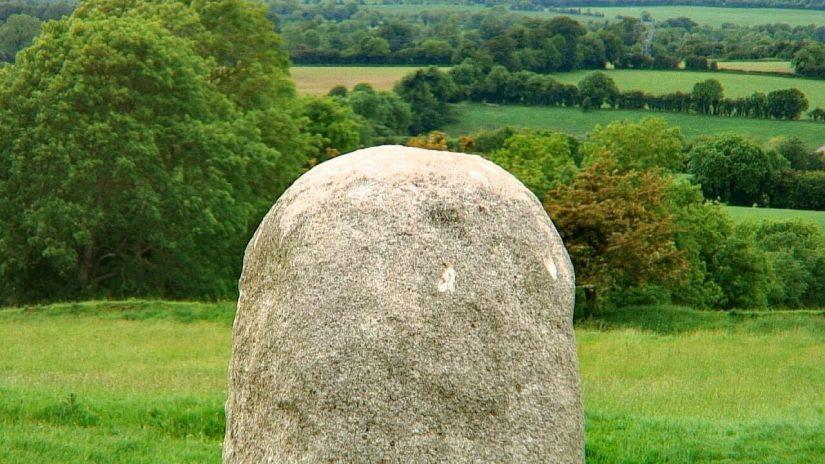 the stone of destiny, the hill of tara, county meath, ireland