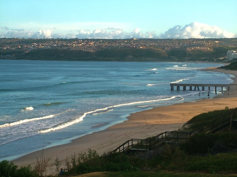 the indian ocean at mossel bay, south africa