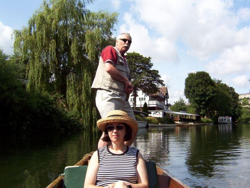 bob punting, avon river, bath, england