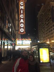 Juliette with fellow alum, Vincent Schultz, in Chicago.