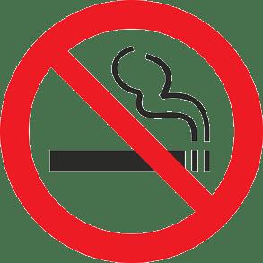 Red and black image of a no-smoking symbol