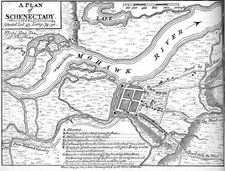 Schenectady before Cornelius Burright was born near here (1750)