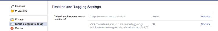 controllo tag facebook
