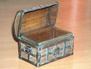 Les miniatures de Frammy - wood chest tutorial