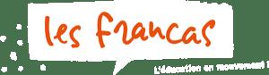 Logo Francas Auvergne Rhône-Alpes blanc