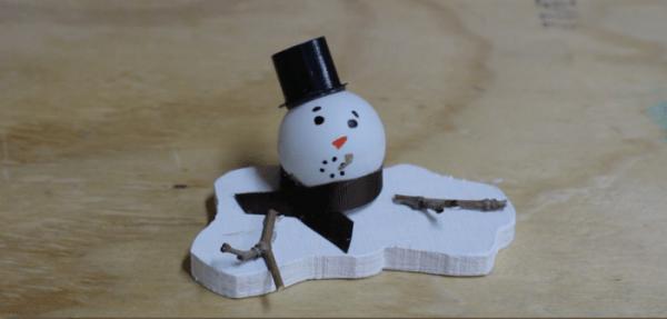 Bonhomme de neige bois