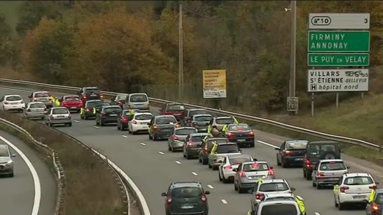 A winding operation Yellow Vests 42 on the A72, a week of the blocking day scheduled for November 17. / © France 3 RA
