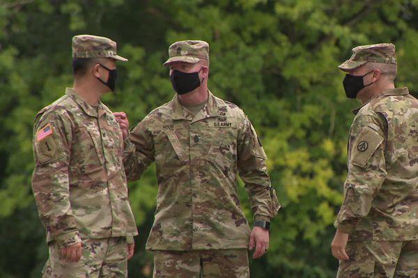 Une partie de la délégation de l'US Army à Rochefort