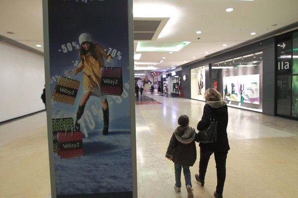 evacuation du centre commercial de