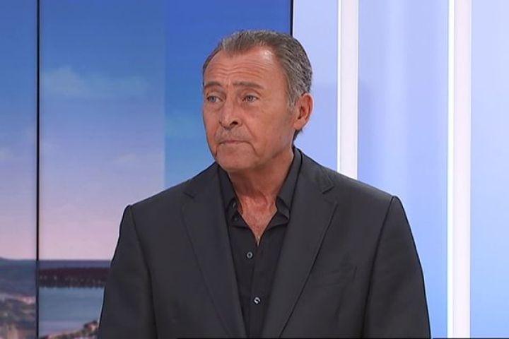 Lionnel Luca, maire Les Républicains de Villeneuve-Loubet, sur le plateau de France 3 Côte d'Azur.