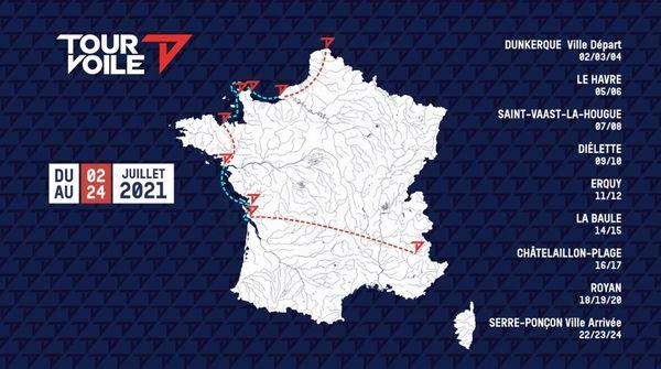 Le parcours du Tour Voile 2021