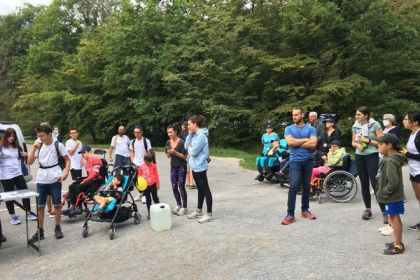 for the month of September, a solidarity march towards cerebral palsy organized within the forest of Verzy