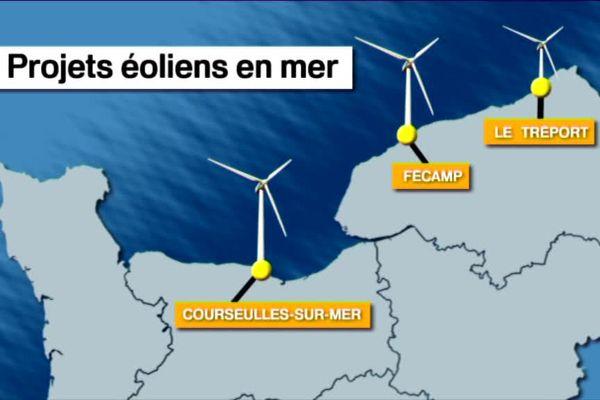 Où en sont les projets éoliens et hydroliens en Normandie ?