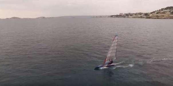 Nicolas Huguet - Test Heru Sails 9.5 Raceboard