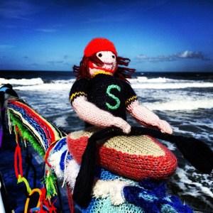 Saltburnolympics knitting