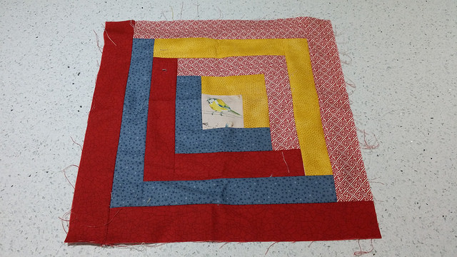 my first task at quilting class