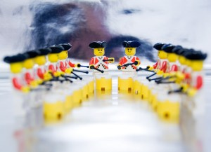 12 Drummers drumming with lego figures