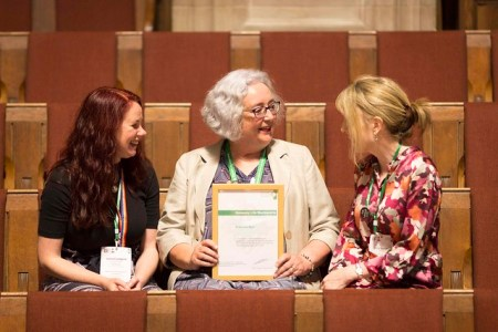 Frances with Lorna Campbell and Sheila MacNeill at HLM