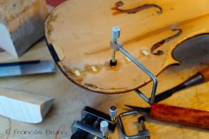 Restoring violin eduardo frances bruno luthier
