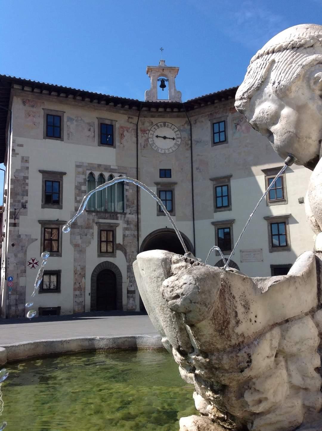 Dettagli di Piazza dei Cavalieri a Pisa. Foto di Francesca Cinus - Rivelatrice di Comunità