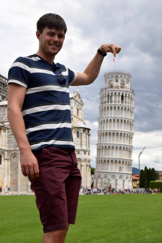 Leaning tower of Pisa, tourist
